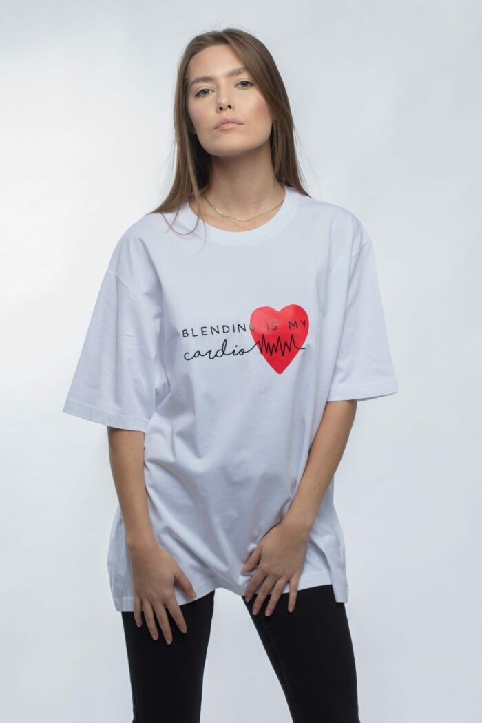 "Tricou gros ""Blending is my cardio"" 6"