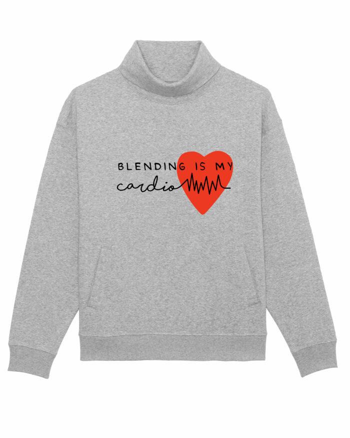 """Bluză pe gât """"Blending is my cardio"""" 1"""