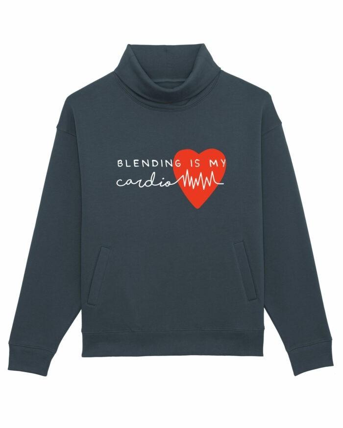 """Bluză pe gât """"Blending is my cardio"""" 2"""